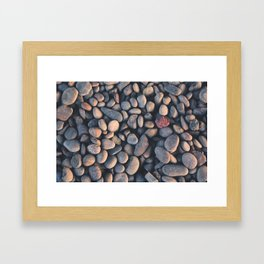 Pebbles grey Framed Art Print