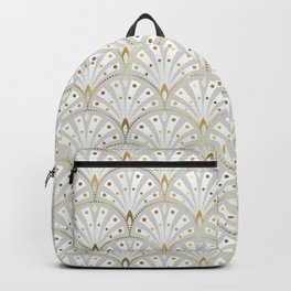 marble and gold art deco scales pattern Backpack