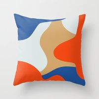 chill Throw Pillows featuring Chill by Tra Dao