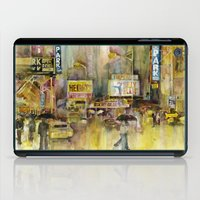 broadway iPad Cases featuring Broadway,  New York by Dorrie Rifkin Watercolors