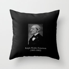 portrait of Ralph Waldo Emerson Throw Pillow