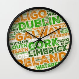 Take Me to Ireland Wall Clock