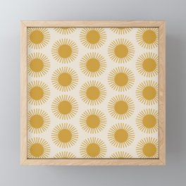 Golden Sun Pattern Framed Mini Art Print