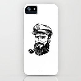 Cabeza Marinero Blanco Negro iPhone Case