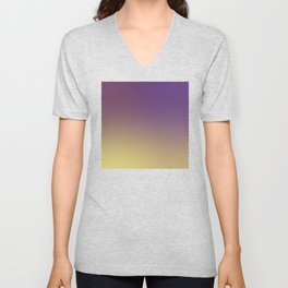 Purple to Yellow Gold Gradient Ombré Unisex V-Neck