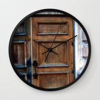 doors Wall Clocks featuring Doors by Jessica Jimerson