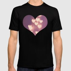 Your Love is Electrifying Black MEDIUM Mens Fitted Tee