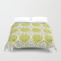 sweater Duvet Covers featuring snowflake sweater by ottomanbrim