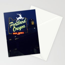 Portland Oregon Old Town Stationery Cards