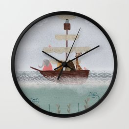 setting sail Wall Clock