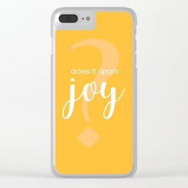 Does It Spark Joy in orange Clear iPhone Case