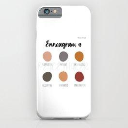 Enneagram 9 iPhone Case