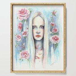 """Blossom"" Watercolour Surreal Fantasy Nymph Serving Tray"