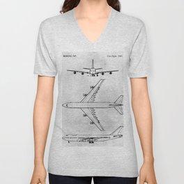 BOEING 747 Unisex V-Neck