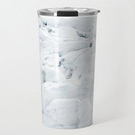White winter glacier icelandic landscape photography Travel Mug