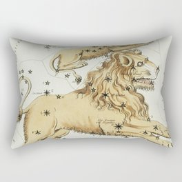 (1831) astronomical chart  of the Leo Major and the Leo Minor Rectangular Pillow