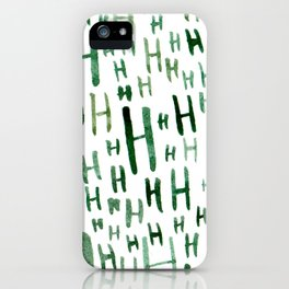 Painted H iPhone Case