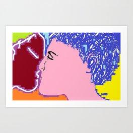 250615 12:23 The Kiss 01 Art Print
