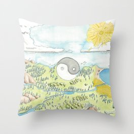 Creation of the Sky and Earth Throw Pillow