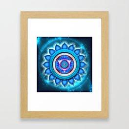 """Vishuddha Chakra - Throat Chakra - Series """"Open Chakra"""" Framed Art Print"""