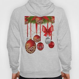 ORNATE HANGING RED CHISTMAS TREE DECORATIONS Hoody