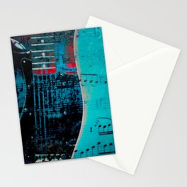 TURQUOISE GUITARS Stationery Cards