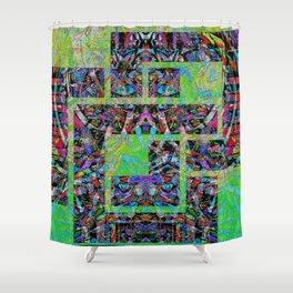 Interlocked pattern Shower Curtain