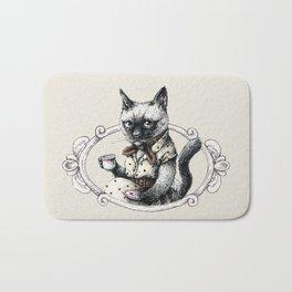 Portrait of Lady Cat Bath Mat