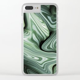 Sinking in Green Clear iPhone Case