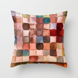 Colorful gift - Geometric watercolor Throw Pillow