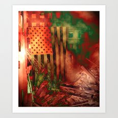 Our Flag Attacked Art Print