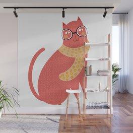 Christmas Cat Wall Mural