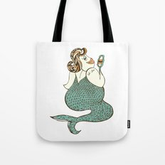 sel-fish mermaid Tote Bag