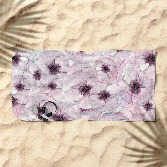 Flower carpet 53 Beach Towel