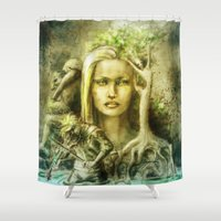 norway Shower Curtains featuring Norway by Holly Carton
