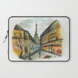 Christmas in Paris Laptop Sleeve