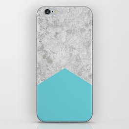 Concrete Arrow Light Blue #206 iPhone Skin