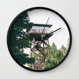 Oregon Fire Lookout II Wall Clock