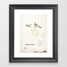 Nothing (...) | Collage Framed Art Print