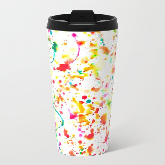 Sunday Splatter Metal Travel Mug