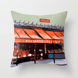 Shopping in Paris Throw Pillow
