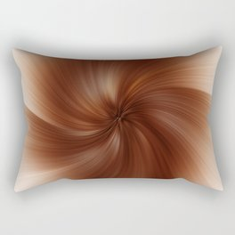 Abstract image composed of colored lines that create spirals, digital art Rectangular Pillow