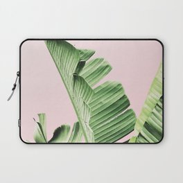 Banana Leaf on pink Laptop Sleeve