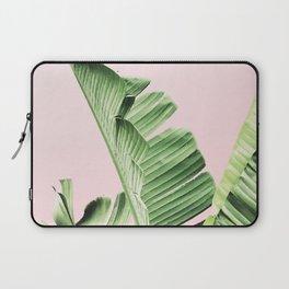 Banana Leaf on pink Laptop Sleeve
