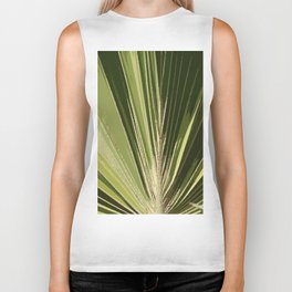 Abstract Palm Frond Biker Tank