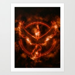 Team Valor - Moltres Art Print