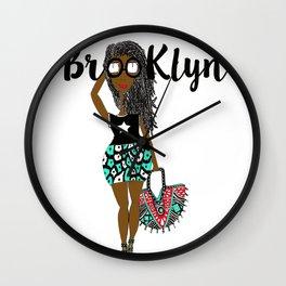 dreads has Brooklyn Glasses Wall Clock