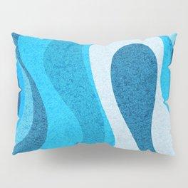 Blue Shag: A Wall Rug Design Pillow Sham