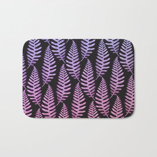 Multi Color Leaves (Black) Bath Mat