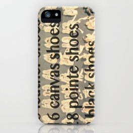 2 Black Pointe Shoes iPhone Case